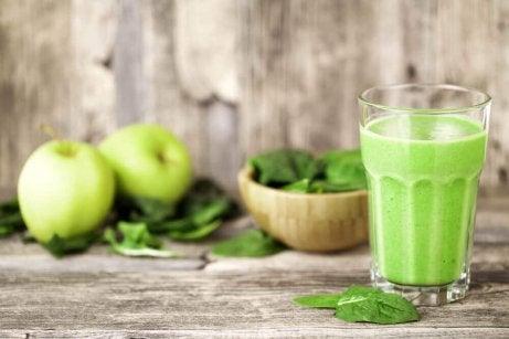 Spinazie, sla en appel smoothie