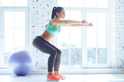 Squats met gewichtjes