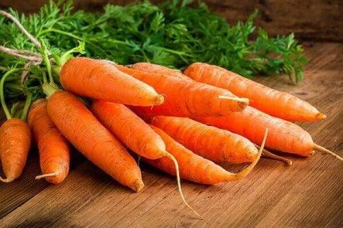 Leptinegehalte verhogen met wortels
