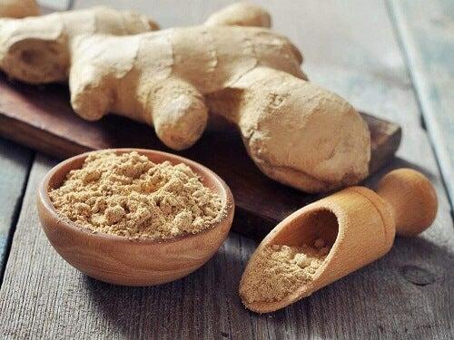 Een middel met gember en kokosolie