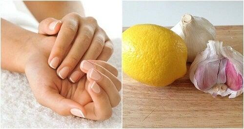 Een middeltje van knoflook en citroen om je nagels sterker te maken