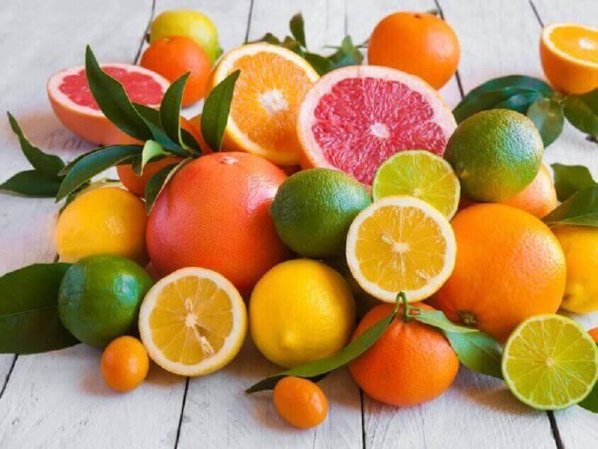 Verschillende citrusvruchten