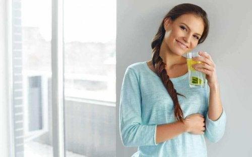 Drink citroenwater