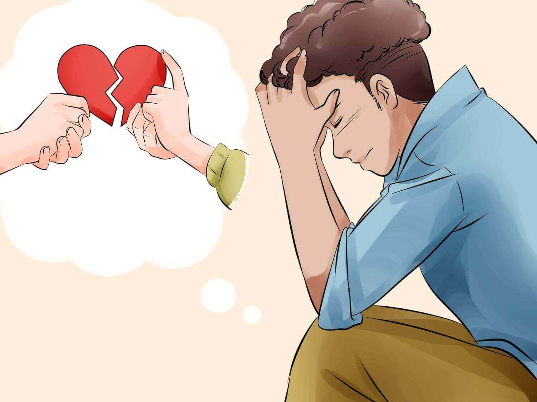 Man denkt aan verbroken relatie