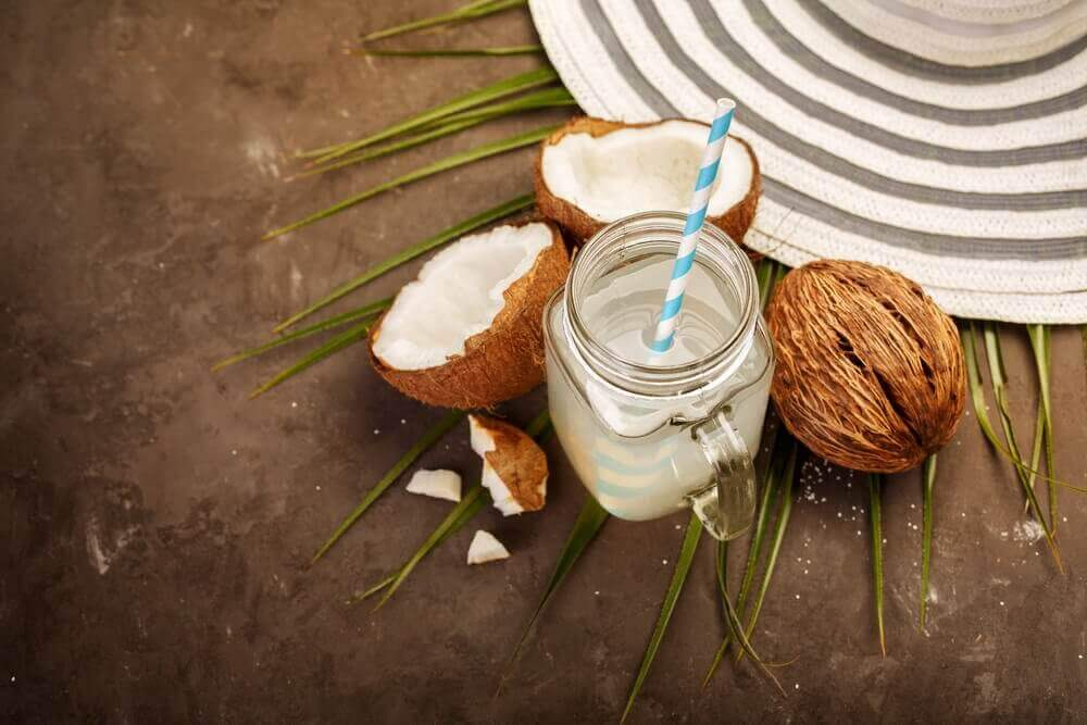 kokosdrank en kokosnoten