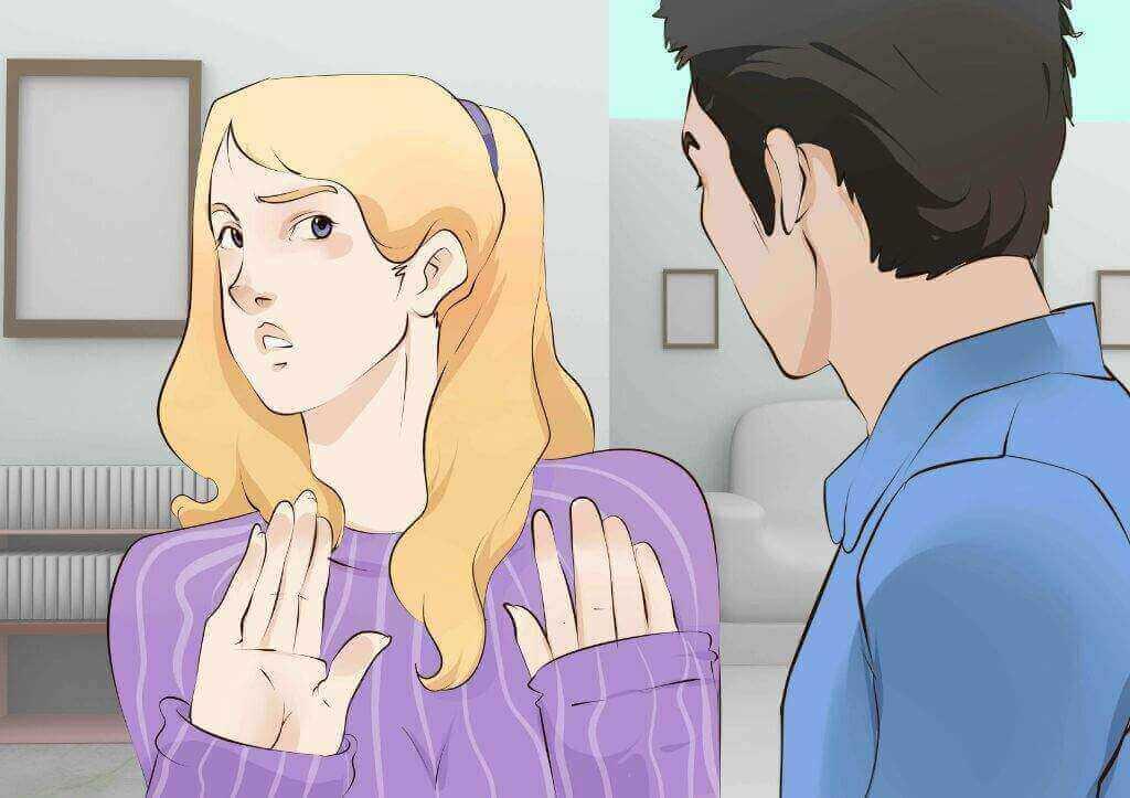 Vrouw met angst voor relatie