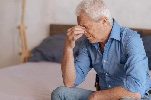Man wordt geplaagd door pijnlijke herinnering