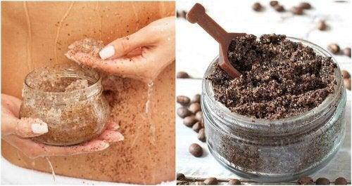 Striae verminderen met een scrub van kokosolie en koffie
