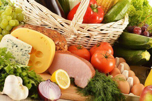 Voedsel voor een uitgebalanceerd dieet