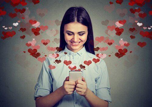 Meisje dat verliefd is
