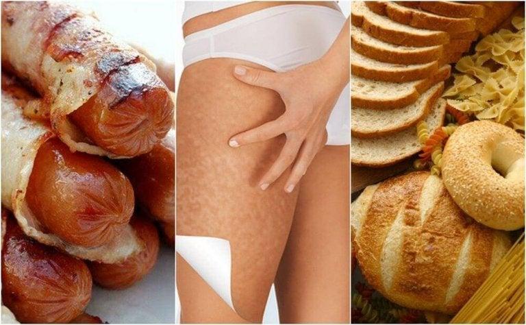 6 voedingsmiddelen die cellulite verergeren kunnen