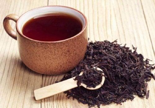 Kopje zwarte thee