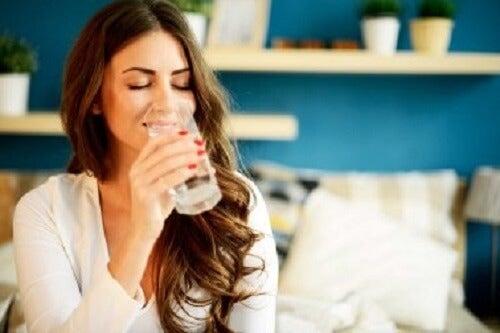 Drink water tussen de maaltijden