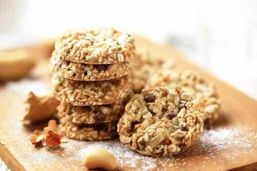 Een recept voor koekjes met havermout, lijnzaad en sesamzaad
