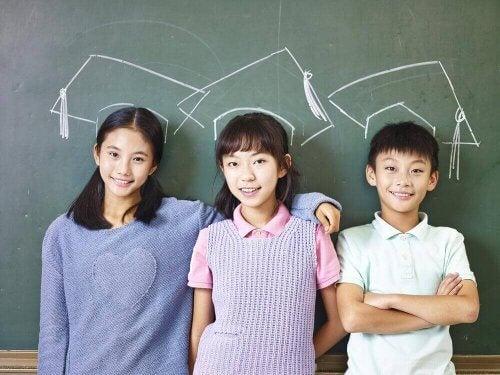 Japanse kinderen gedragen zich goed
