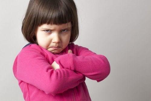 Kinderen weigeren soms een zoen te geven