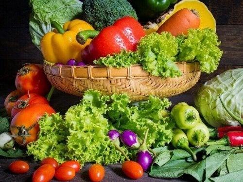 Een dieet rijk aan groenten