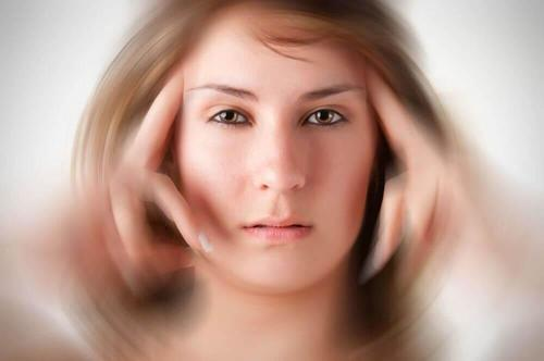 vrouw heeft tunnelvisie