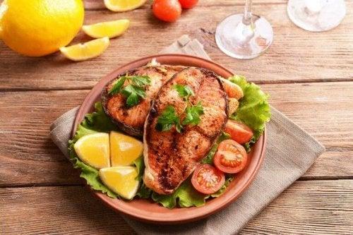 Vis aan dieet toevoegen