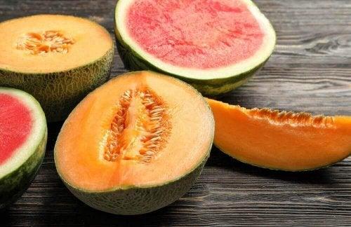Meloen heeft veel goede eigenschappen