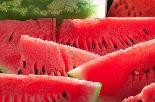 Watermeloen bevat veel vocht