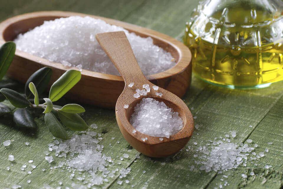 Zeezout en tarwekiemolie