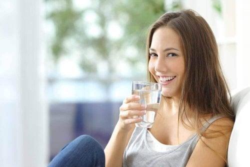 Voldoende water drinken