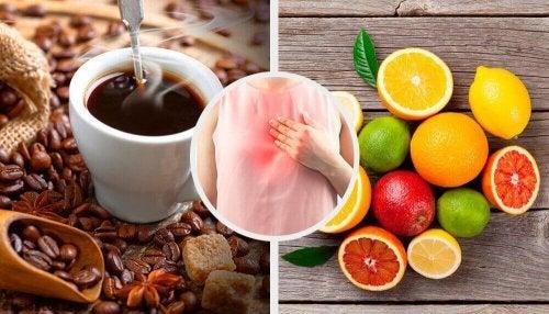 7 te vermijden voedingsmiddelen bij reflux