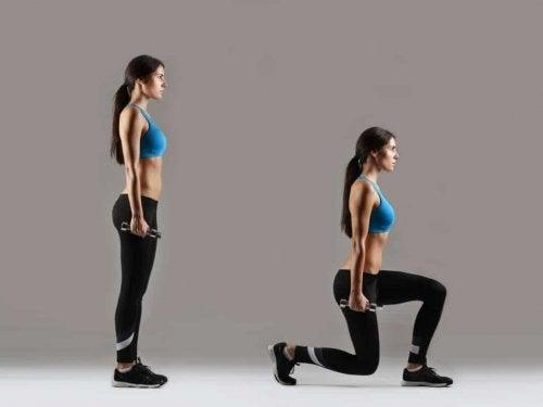 Lunges zijn goed voor je beenspieren