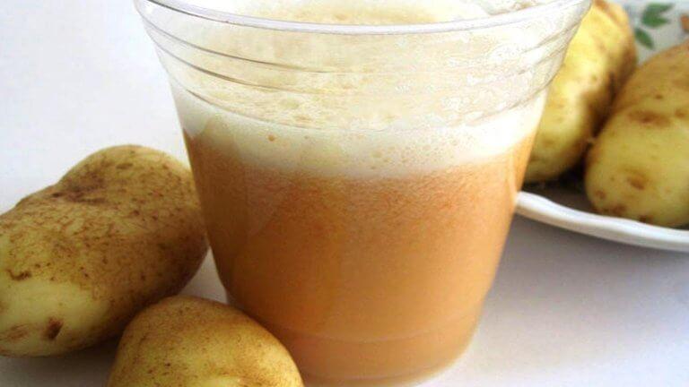 glas aardappelsap