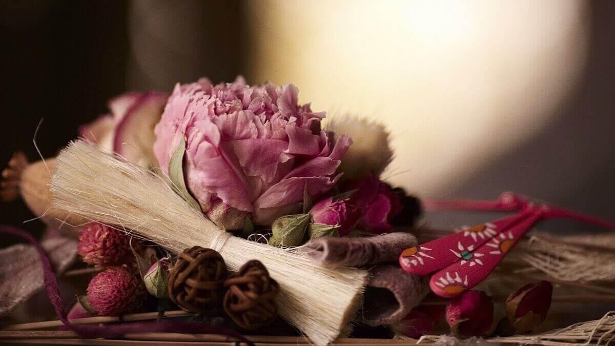 decoratie met een bloem
