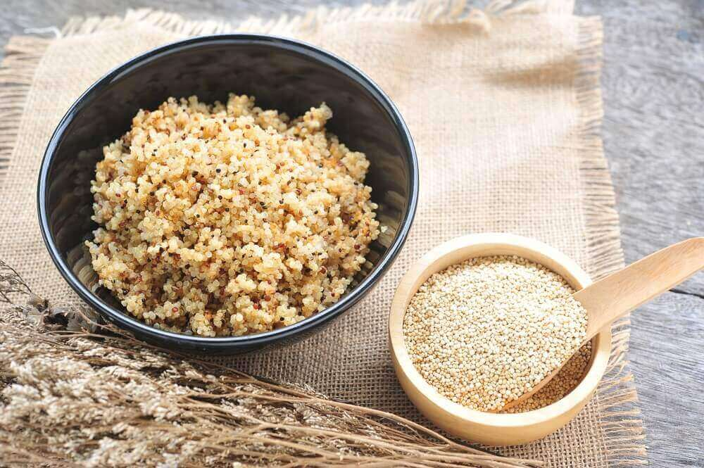 Risotto van quinoa met champignons en kip en prei