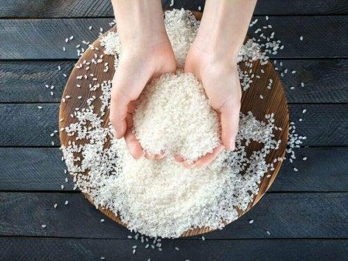 Rijst in handen