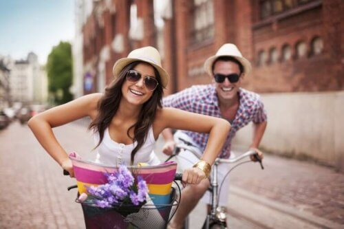 Stel dat samen fietst