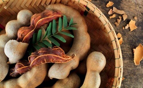 Tamarinde in een mand