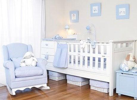 Verlichte babykamer