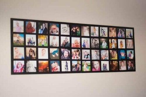 microcollages als een van de decoratieve ideeën voor je familiefoto's
