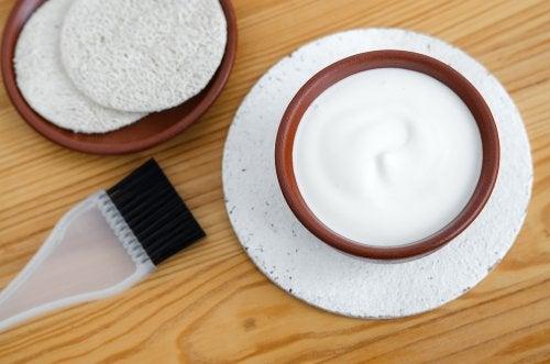 Yoghurt in een schaaltje