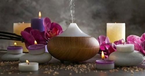 Aromatherapie is een van de natuurlijke remedies tegen spanningshoofdpijn
