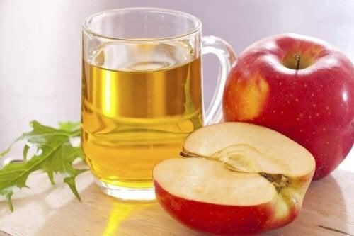 Glas appelazijn met appels
