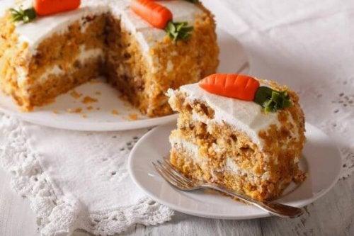 Heerlijke vetvrije vegan wortelcake zonder eieren