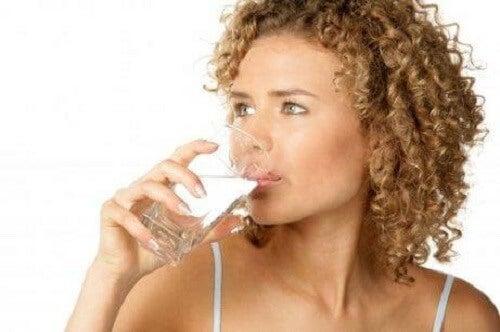 Onvoldoende water drinken