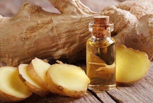 Siroop met gember en olijfolie om pijn te verlichten