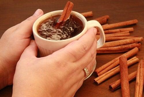 Stimulerende thee met kaneel en honing