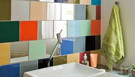 Kleurrijke badkamertegels