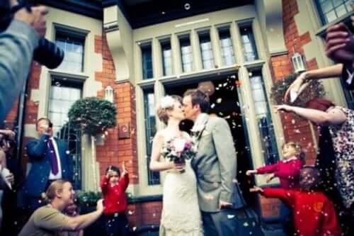 Een gelukkig getrouwd stel