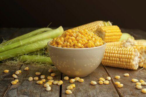 Maïs in een kom