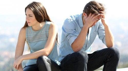 Stel met relatieproblemen