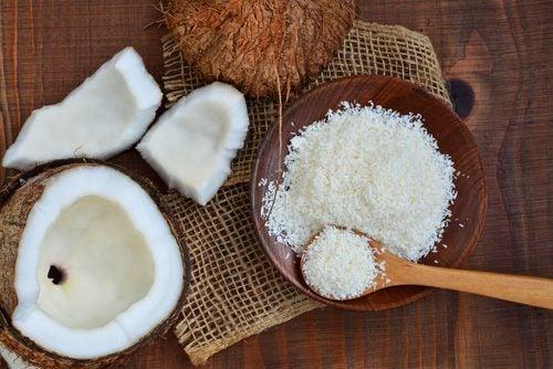 Kokos als garnering