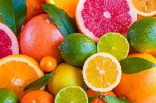 Een luchtverfrisser met citrusvruchten